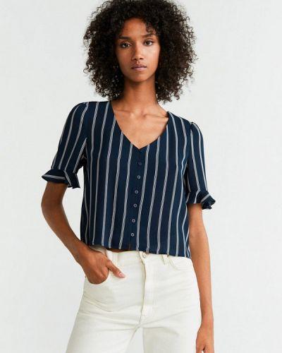 Блузка с коротким рукавом синяя Mango