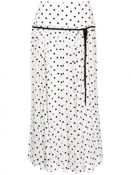 С завышенной талией черная юбка миди для полных Carolina Herrera