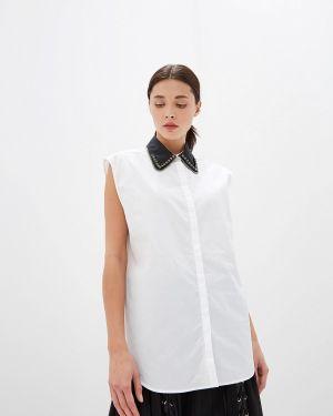 Блузка без рукавов белая N21
