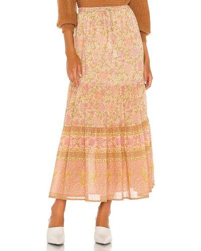 Różowa spódnica maxi skórzana do pracy Spell & The Gypsy Collective