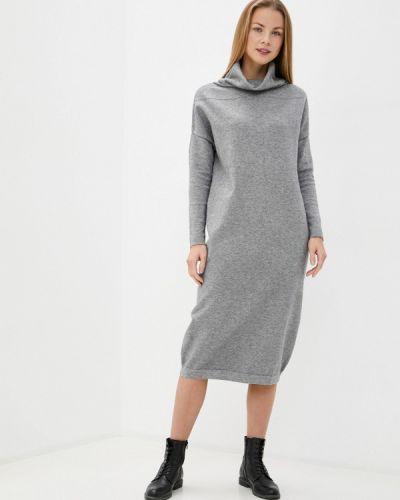 Серое вязаное платье Baon
