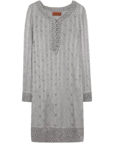 Платье мини вязаное с V-образным вырезом Missoni