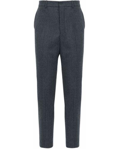 Wełniany spodnie z kieszeniami na hakach Ami Alexandre Mattiussi