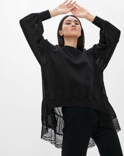 Черная блузка с длинными рукавами Twinset Milano