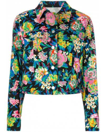 Длинная куртка с цветочным принтом Msgm