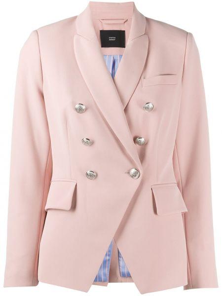 Розовый удлиненный пиджак с карманами Steffen Schraut