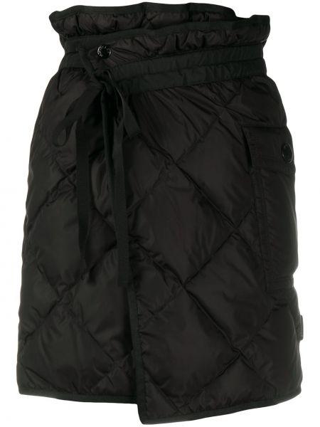Czarna spódnica z wysokim stanem kopertowa Moncler