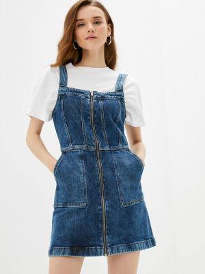 Джинсовое платье - синее Tiffosi