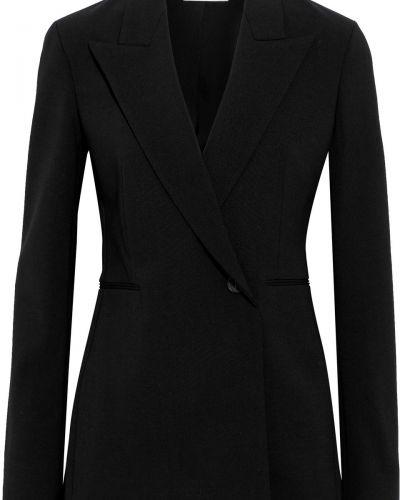 Черный пиджак двубортный с карманами The Row