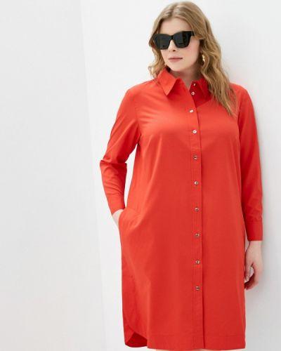 Красное платье-рубашка Svesta