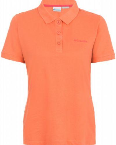 Оранжевое поло спортивное Columbia