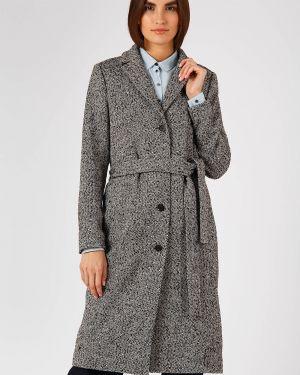 Пальто шерстяное черное Finn Flare