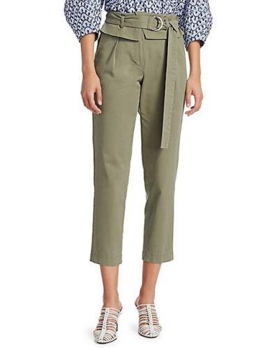 Хлопковые укороченные брюки с карманами милитари Derek Lam