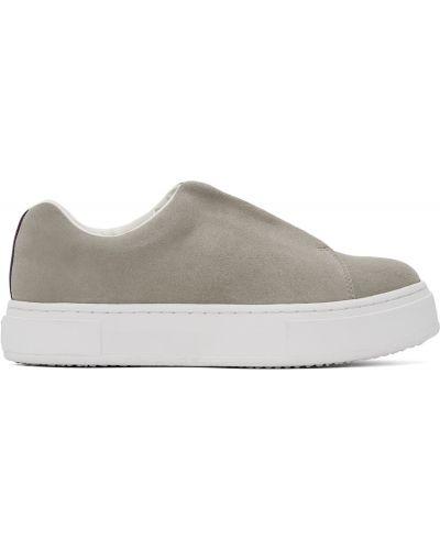 Buty sportowe na platformie - białe Eytys