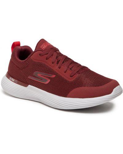 Sneakersy - bordowe Skechers