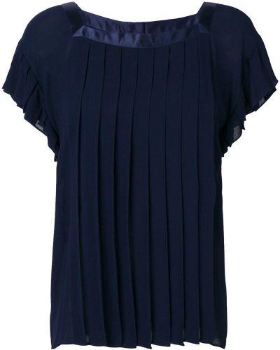 Блузка из органзы - синяя Yves Saint Laurent Vintage