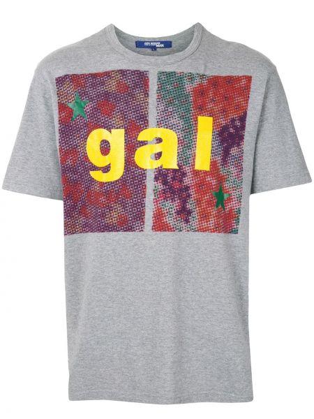 Прямая хлопковая серая футболка с круглым вырезом Junya Watanabe Comme Des Garçons Pre-owned