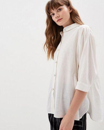 Рубашка с коротким рукавом белая Hassfashion