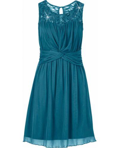 Платье трикотажное ажурное Bonprix