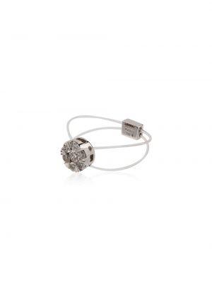 Biały złoty pierścionek z diamentem Persée