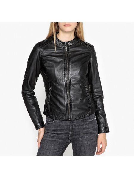 Кожаная куртка на молнии укороченная Oakwood