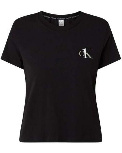 Czarna piżama bawełniana krótki rękaw Ck One
