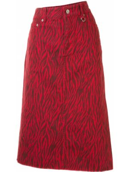 Джинсовая юбка с карманами красный We11done
