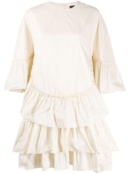 Платье мини с оборками с рукавами Simone Rocha