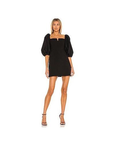 Шелковое черное платье мини с подкладкой Likely