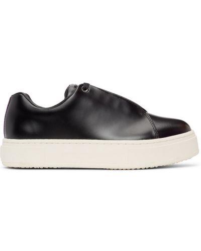 Кожаные белые кроссовки на платформе Eytys
