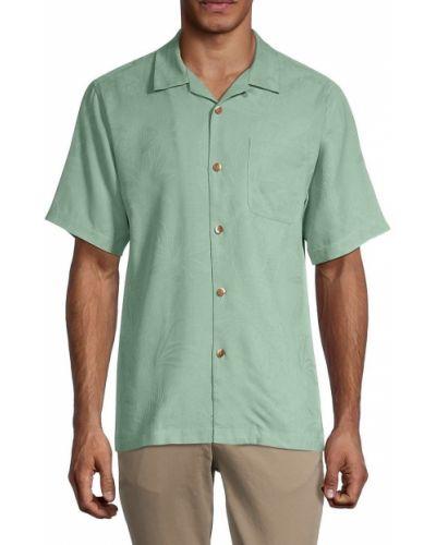 Шелковая рубашка с короткими рукавами с воротником Tommy Bahama