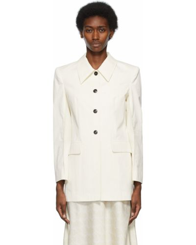 Белая куртка длинная Low Classic