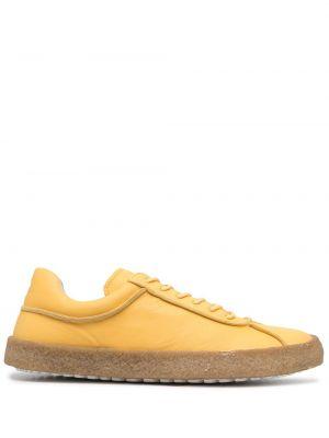 Кожаные кеды - желтые Camper