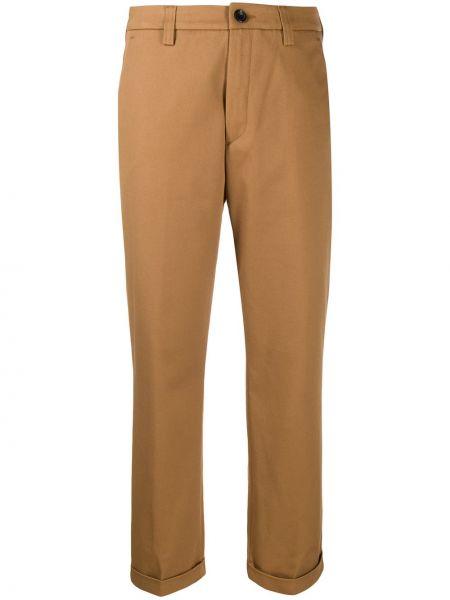 Коричневые брюки из верблюжьей шерсти с карманами с высокой посадкой Department 5