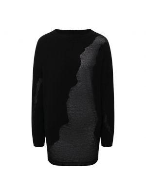 Трикотажный пуловер - черный Isabel Benenato