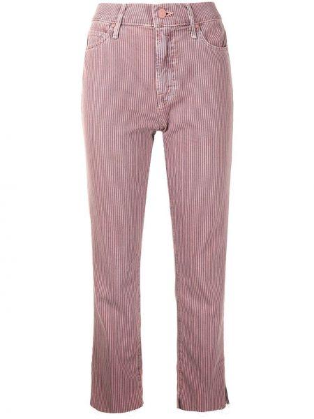 Розовые хлопковые джинсы Mother
