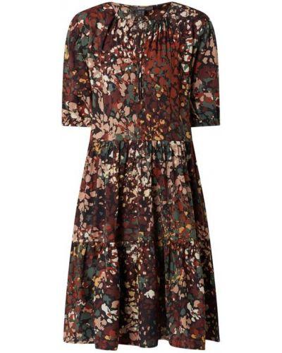 Czarna sukienka z falbanami Esprit Collection