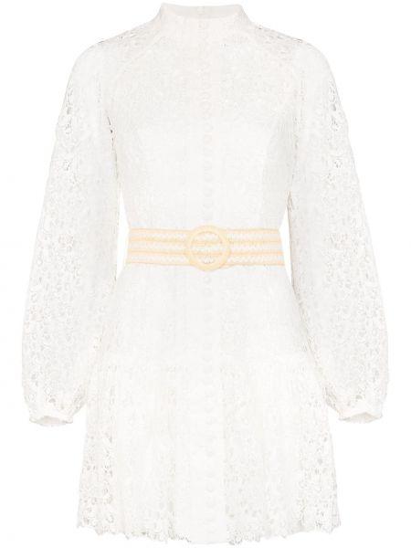 Платье мини на пуговицах с цветочным принтом Zimmermann