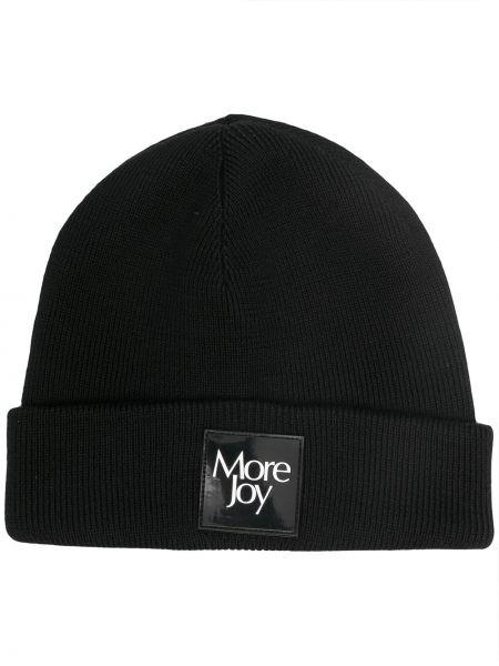 Czarna czapka wełniana More Joy