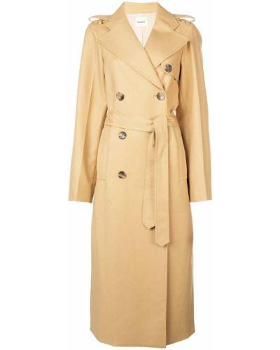 Длинное пальто с капюшоном на пуговицах Khaite