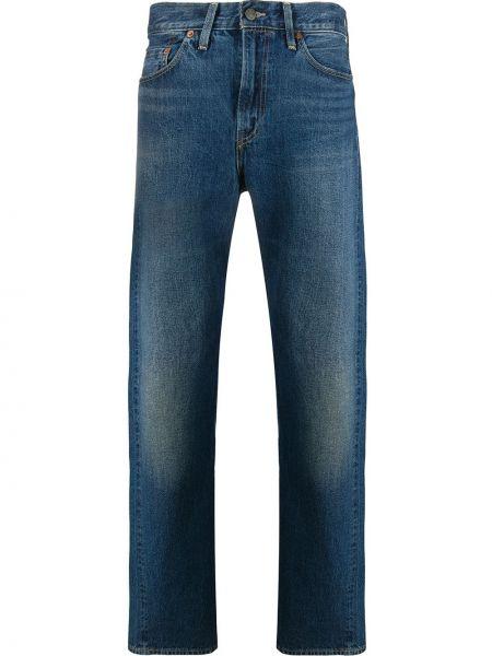 Синие прямые джинсы с карманами с заплатками винтажные Levi's Vintage Clothing