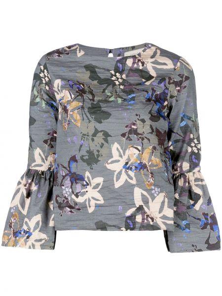 Блузка с цветочным принтом прямая Nicole Miller