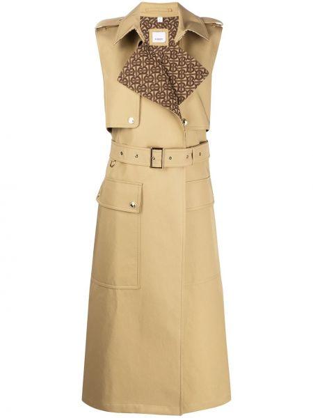Płaszcz z kieszeniami z kołnierzem Burberry