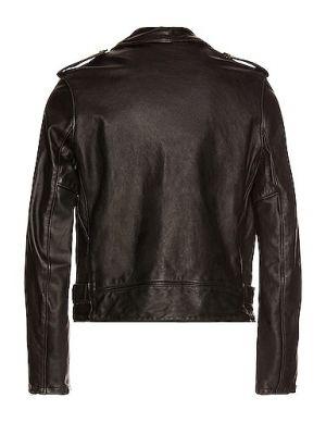 Czarna kurtka skórzana vintage Schott