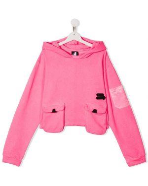 Хлопковый розовый классический топ с карманами Cinzia Araia Kids