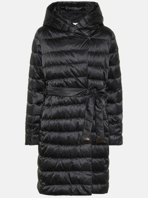 Черное пуховое пальто двустороннее Max Mara