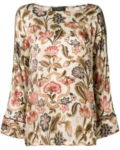 Блузка с длинным рукавом с цветочным принтом прямая Antonelli