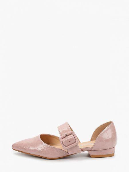 Розовые кожаные туфли из искусственной кожи La Bottine Souriante