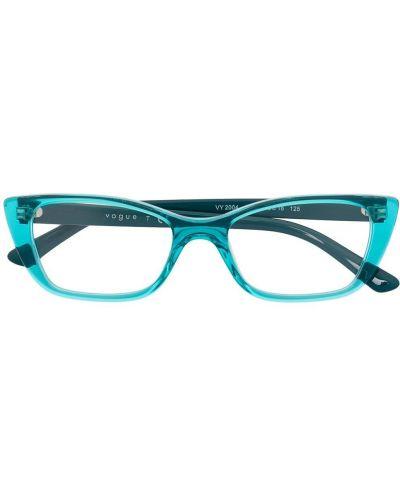 Прямые синие солнцезащитные очки Vogue Eyewear