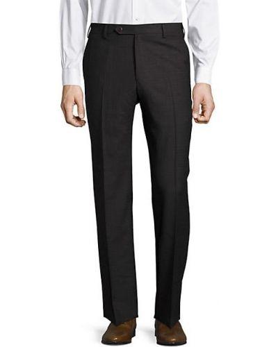 Темно-серые шерстяные брюки с карманами Zanella